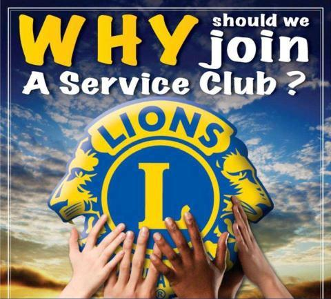 link picture with the text why join a lions club