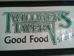 Twilligers business sign - a sponser of the Laingsburg Thanksgiving Dinner