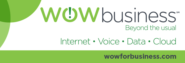 Wow for Business website logo with slogan Beyond the Usual